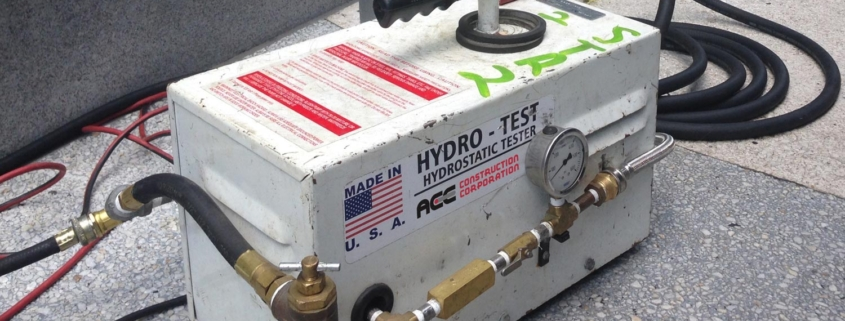 Ace Construction Corporation Hydrostatic Testing